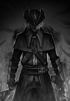 Bloodborne Fan Art, Ardhika Arif on ArtStation at… Bloodborne Characters, Bloodborne Art, Character Concept, Character Art, Character Design, Face Characters, Fantasy Characters, Soul Saga, Old Blood