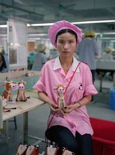 Toy Story, Michael Wolf, Wolf Photography, Photography Office, Colour Photography, Street Photography, Foto Portrait, Factory Worker, Photo Series