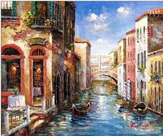 venice italy, oil painting