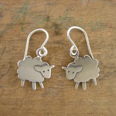 Fluffy the Sheep Earrings by marmar on Etsy, $44.00
