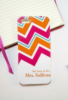 wedding-theme iPhone case with cute chevrons