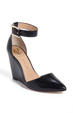 VC Signature 'Solanna' Leather Wedge Pump available at #Nordstrom definitely want these!