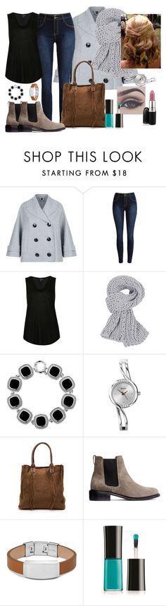 """Ootd #33"" by luludedid on Polyvore featuring Burberry, Topshop, Belk & Co., FOSSIL, Giorgio Armani, MAC Cosmetics, women's clothing, women's fashion, women and female"
