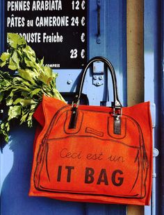 *First of all, it's in French. And then secondly, it's literally THE It Bag. Must...needs...purchase.*