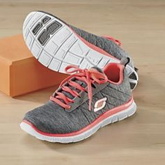Sketchers memory foam sneakers. I want a pair of these,  I hear they are very comfortable! :)