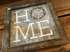"""in big letters with the """"O"""" windmill blades in entry Barn Wood Projects, Metal Projects, Metal Crafts, Wood Crafts, Chalk Crafts, Tile Projects, Pallet Projects, Decor Crafts, Diy Crafts"""