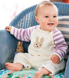 Baby Onesie Knitting Pattern | Free Knitting Patterns