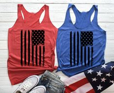 Fourth of July Tank Top. of July. Stars and Stripes Fourth Of July Shirts, 4th Of July Outfits, Patriotic Shirts, Patriotic Crafts, Patriotic Party, July Crafts, July 4th, 1776 America, America Independence