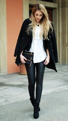 So good. Faux leather leggings/pants are my everything right now!