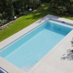 Moderner Pool Bilder: Einstieg in den neuen GFK Pool | Schwimmbäder