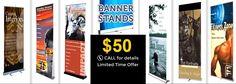 #Banner #Stands only at $50 ! Limited time offer !! For details Call us at 416-844-5152 !! Visit us at:- http://www.megaimaging.com/Banner-Stands.html