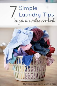 7 simple tips to help get your laundry under control