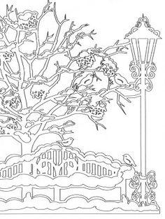 Vögelchen auf Zweigen