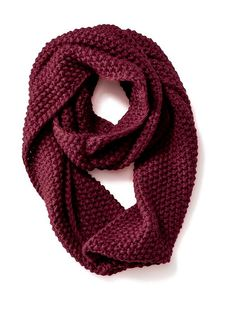 Womens Chunky-Knit Infinity Scarf Preferred Colors: Burgundy, Black, White, Grey