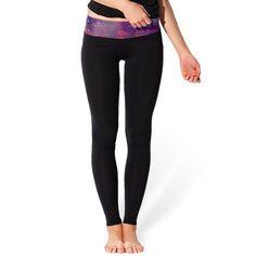 Trendy Starlit Print Hit Color Stretchy Skinny Women's Pants