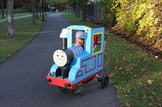 Original Kids Thomas the Tank Engine Homemade Halloween Costume... This website is the Pinterest of costumes