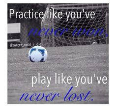 So true. I'm horrible when I practice, but when I get on the field, I go into all-in-mode and I try and win that game the best I can!