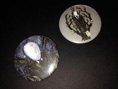 Slenderman Set Two Pins - Creepypasta Art
