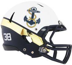 Image result for navy football helmets
