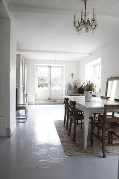 white painted floors: my scandinavian home: Ooooh, beautiful white and grey home alert!