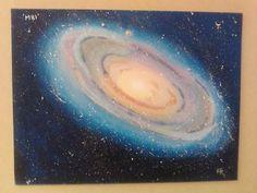 Galaxy M81 - acrylics on canvas