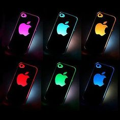 US Sense Flash Light Case Cover for Phone 4, 4S and 4G LED LCD Auto Color