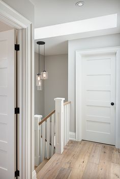 Second floor hallway leading to staircase Toronto, Interior Photography, Studio, Second Floor, Tall Cabinet Storage, Paint Colors, Color Schemes, Living Spaces, New Homes
