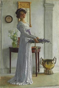 William Henry Margetson (1861-1940). The lavender.