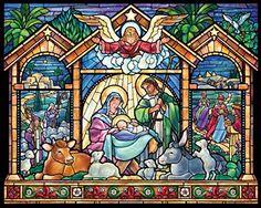 Vitral de la Natividad Rompecabezas de 1000 Piezas (Jigsaw Puzzle)