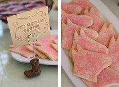 pink lemonade pony cookies - sub out chocolate dough & chocolate jimmies Sheriff Callie Birthday, Cowgirl Birthday, Cowgirl Party, Little Girl Birthday, Cowboy And Cowgirl, Cowgirl Cookies, Horse Cookies, Bling Party, Horse Party