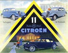 Citroën Traction Avant French Classic, Classic Cars, Psa Peugeot Citroen, Citroen Traction, Traction Avant, Car Illustration, Automotive Art, Old Cars, Vintage Advertisements
