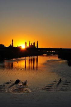 Sunset in Ebro river by Miguel Moreno Dobato on 500px