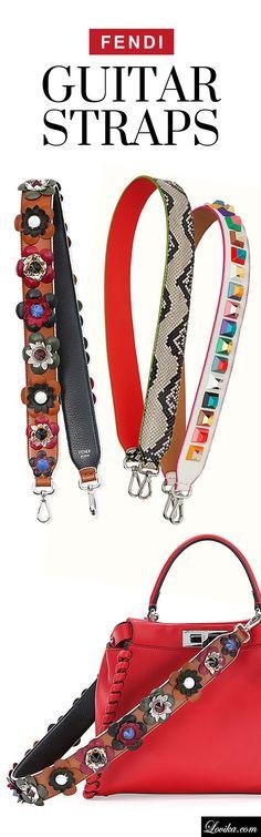 "The next ""IT"" accessory trend - Fendi handbag guitar straps"
