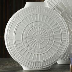 Desert Vase white ceramic