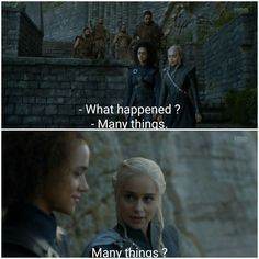 Game of Thrones | That look on Dany's face. *Spill the deets girlfriend*