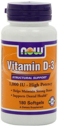 NOW Foods Vitamin D-3 1000 IU, 180 Softgels Now Foods,http://www.amazon.com/dp/B000A0LE6O/ref=cm_sw_r_pi_dp_mKRYsb1D9C8FQM1B