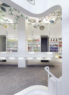Pharmacy Design | Retail Design | Store Design | Pharmacy Shelving | Pharmacy Furniture |Linden-Apotheke« — Ippolito Fleitz Group
