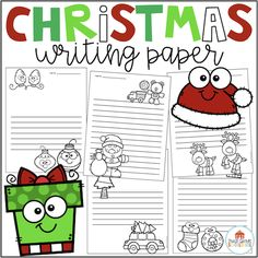 Christmas Writing Paper Get ready for the Christmas holidays with this packet of lined Christmas writing paper. These can be used throughout December. Just copy the paper in bright Christmas and winter colors and place them at a writing or thematic center. Your students will love the opportunity to write using the fun variety of holiday paper. Click on the picture for a free download. 1-2 christmas December First Grade Schoolhouse writing paper