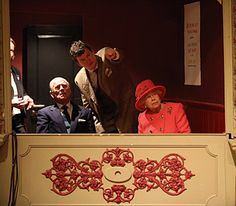 In the Royal Box at the Bristol Old Vic Theatre.