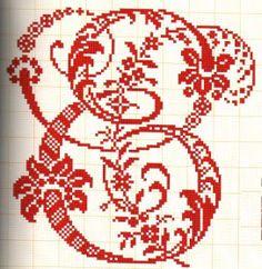 Passo a passo de como bordar vários pontos com fita, sianinha, linha Monogram Alphabet, Cross Stitch Alphabet, Sewing Art, Bargello, Filet Crochet, Cross Stitching, Symbols, Yandex Disk, Embroidery