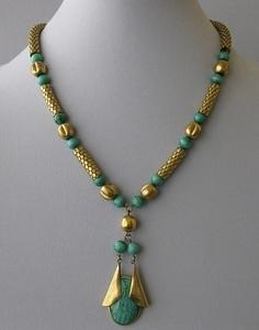 Art Deco Egyptian Revival Necklace c 1930s