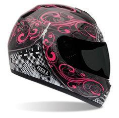 Bell Arrow Zipped Black and Pink Full Face Helmet