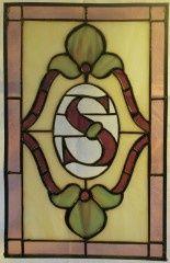 stained glass monograms | Rectangular Monogram