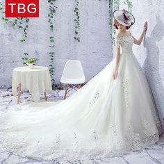 임신 한 여성의 높은 허리 긴 꼬리 한국어 공주 판타지 센 부서의 신부 웨딩 드레스 2017 새로운 단어 어깨 웨딩 드레스