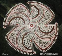 Simple Rangoli Border Designs, Rangoli Borders, Small Rangoli Design, Rangoli Kolam Designs, Rangoli Ideas, Colorful Rangoli Designs, Beautiful Rangoli Designs, Mandala Design, Mandala Art