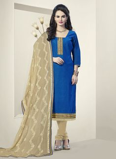 Blue Churidar Suit Wholesale Collection With Georgette Febric