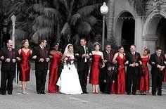 Модный цвет свадьбы - кирпично-красный