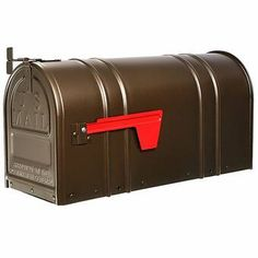 4EverProducts Mailbox with Post Included & Reviews | Wayfair Large Mailbox, Diy Mailbox, Mailbox Post, Wall Mount Mailbox, Mounted Mailbox, Wood Anchor, Heavy Duty Hinges, Gibraltar Mailboxes, Whitehall Products