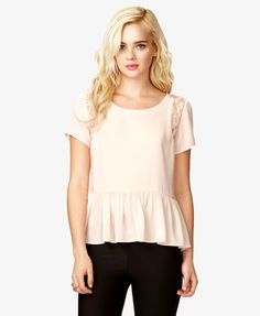 Floral Lace Chiffon Top | FOREVER21 - 2028049447