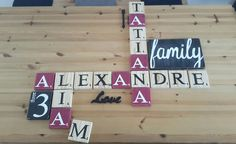Creations, Signs, Home Decor, Scrabble Letters, Painted Letters, Natural Wood, Decoration Home, Room Decor, Shop Signs